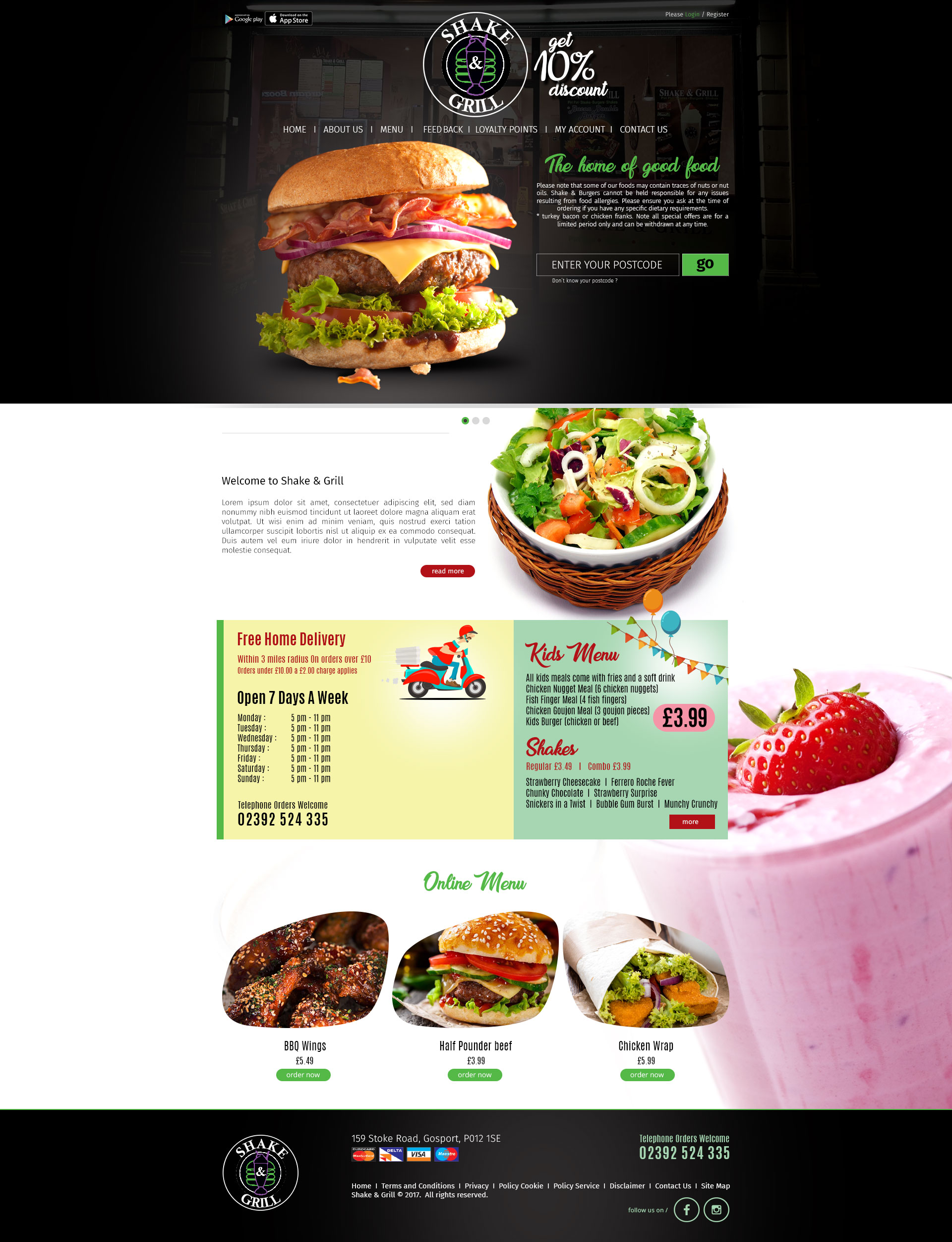 shake and grill Web