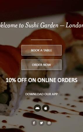 Sushi Garden web