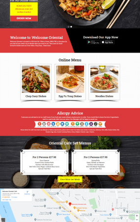 Welcome Oriental web