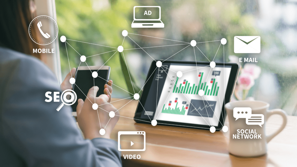 Digital marketing involve running ads, SEO, email, and social media platforms.