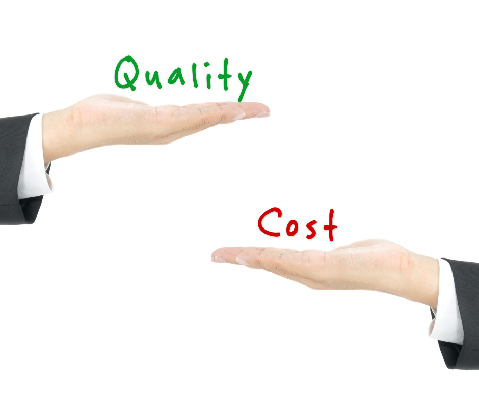 Quality versus cost versus must be properly thought of to maximize labour capacity of a restaurant.